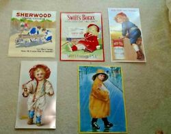 Tin Signs Aaa Sign Company Lot Of 5 - Borax - Hires Root Beer - Red-top Flour...