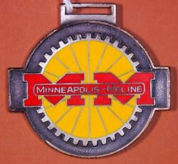Minneapolis Moline Tractors Red And Yellow Porcelain Watch Fob X3