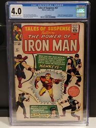 Marvel Tales Of Suspense 57 Cgc 4.0 Ow/w First Appearance Of Hawkeye