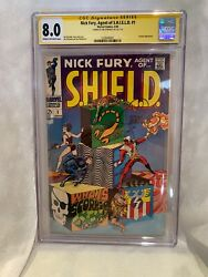 Nick Fury Agent Of S.h.i.e.l.d. 1 Signed Jim Steranko Story/cover 1968 Cgc 8.0