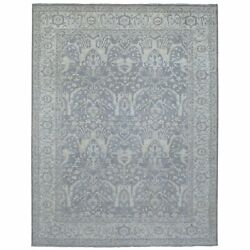 9and039x11and0397 Silver Wash Peshawar With All Over Design Hand Knotted Wool Rug R68662