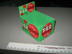 Pez 1960s Candy Pack Store Display Box Wild Cherry Unused File Copy