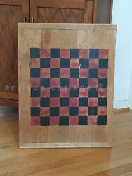 Vintage/antique Large Old Wood Cutting Board Checker Game Board Chess Aafa Prim