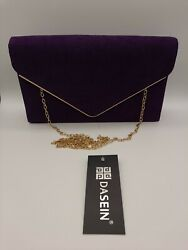 Dasein Women#x27;s Evening Clutch Bags Formal Party Clutches Wedding Purses Cocktail $20.99
