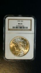 1923 P Peace Silver Dollar Ngc Ms65 Gem Uncirculated 1 Coin Buy It Now