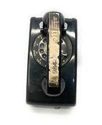 Vintage Bell System Western Electric Black Rotary Wall Phone Untested