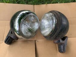 Pair Vintage Head Lamp Mounting Bracket Ford Coe Early Truck Light