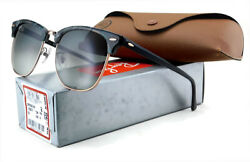 New Ray-ban Clubmaster Rb3016f Sunglasses | Grey Green Tort / Grey Gradient Lens