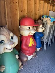 Alvin And The Chipmunks Figures Lifesize Original - I No Longer Have The Tails