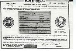 1956 Packard Clipper Super 2 Door Ht Indiana Title Notarized Historical Document