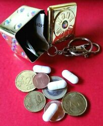 Stash Cube - Hide / Pill Box - Keychain 3 Colours - With Glitter