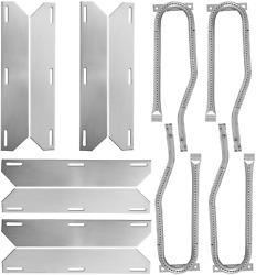 Stainless Steel Grill Heat Plates Shield Burner Cover Heat Tent 4 Pcs