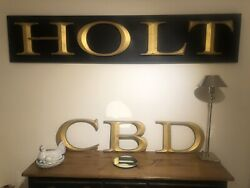Vintage Letters Cbd Fullers Extra Large Letters In Gold Bevalled Edge.