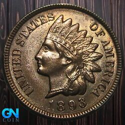 1893 Indian Head Cent Penny -- Make Us An Offer K6057