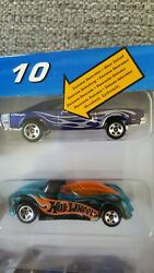 Hot Wheels Charger Blue With Flames From Muscle Mania In The Original 10 Pack.