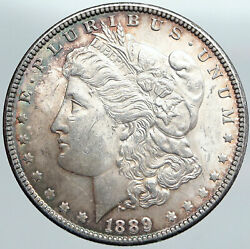 1889 P United States Of America Silver Old Morgan Us Dollar Coin Eagle I89107
