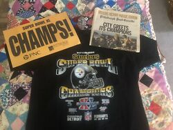 Pittsburgh Steelers Super Bowl Xl Parade Tshirt Package-banner Newspaper Limited