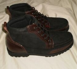 Mens Shoes Bass Boston Moc Toe Black Brown Lug Boat Shoes Boots Sneakers