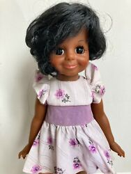 Vintage Ideal African American Beauty Braider Velvet Doll 16 Crissy Family Exc