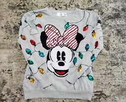 Disney Store Minnie Mouse Holiday Sweater Women Christmas Size Xl