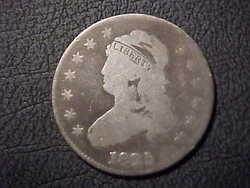 1825 G-vg Large Size Capped Bust Quarter Better Date