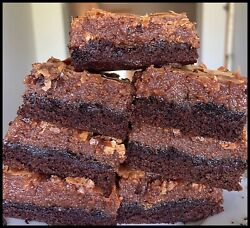 Homemade NUTELLA Gooey Butter Cake Squares