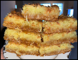 Homemade COCONUT Ooey Gooey Butter Cake Squares