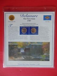 Statehood Quarter Delaware The 1st State 1787 With Stamps Coins