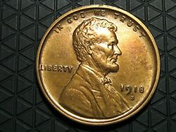 1918 S Lincoln Cent Wheat Penny -- Make Us An Offer K6186
