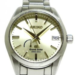 Auth Grandseiko Spring Drive Heritage Collection 9r65-0bh0 Silver 310002 Watch