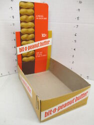 Williamson Candy Bar Company 1969 Box Store Display Bit O Peanut Butter 10cent