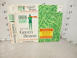 Green Giant 1960s Green Beans French Style Vintage Frozen Vegetable Food 1 Box