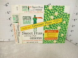 Green Giant 1960s Sweet Peas Tiny Onions Vintage Frozen Vegetable Food Box