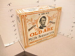 Candy Box Old Abe Abraham Lincoln Us President Milk Square 1930s Store Display