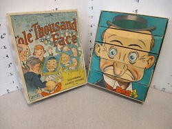 Ole Thousand Face 1000 Candy Box 1920s Store Display Comic Book Face Puzzle Game