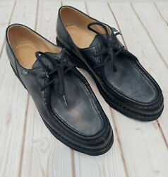 PARABOOT Michael Black Leather Derby Lace Up Shoes UK 6 R 39 Worn Twice $332.00