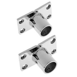Stainless Steel Boat Deck Hand Rail Fitting 90 Degree For 22mm / 25mm Tube