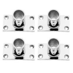 4 Pieces Stainless Steel Boat Deck Hand Rail Fitting 90 Degree For 25mm Tube
