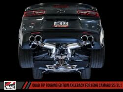 Awe Fit 16-19 Camaro Ss Axle-back Exhaust| Quad Chrome Silver Tips