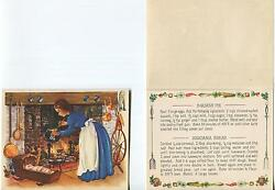 Vintage Squash Pie Bread Recipe Colonial Cook Recipe 1 Betsy Ross Us Flag Card