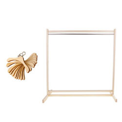Wooden Clothes Organizer + 10 Pieces Metal Hook Hangers For 1/3 Bjd Doll