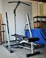 Nautilus Nt-905 Weight Rack And Adjustable Bench
