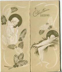 Vintage Christmas Prayer St. Francis Of Assisi Christ Child Angels Greeting Card