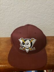 Official Nhl Vtg Hockey Mitchell And Ness Anaheim Mighty Ducks 20th Snapback Hat