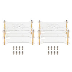 2pack Acrylic Case Stack Enclosure Stackable Dog Bone Shape For Raspberry Pi