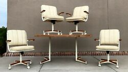 Vintage Mid Century Modern Stoneville Furniture Company Dining Table And Chairs