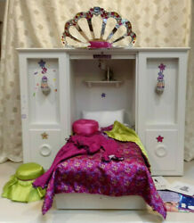 American Girl 3 In 1 Murphy Bed Wardrobe Accessories Pillow Sheets Other