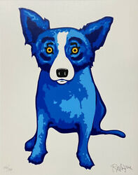 George Rodrigue Blue Dog Purity Of Soul Hand Signed And Numbered Serigraph
