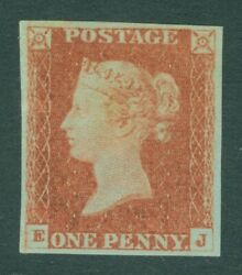 Sg 9 1d Pale Red-brown Lettered Ej. A Fine Fresh Unmounted Mint Example...