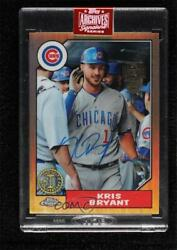 2019 Archives Signature Series Active Player Edition Buybacks 1/1 Kris Bryant